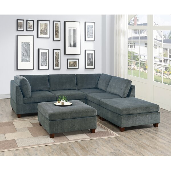 Branca Reversible Modular Sectional With Ottoman By Ebern Designs