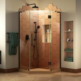 DreamLine Prism Plus 36 in. D x 36 in. W x 72 in. H Frameless Hinged Shower Enclosure byDreamLine