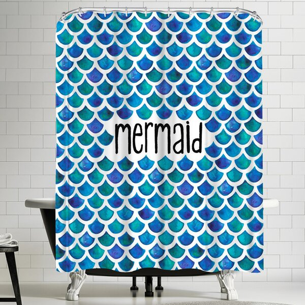 Elena Oneill Mermaid in Blue Shower Curtain by East Urban Home