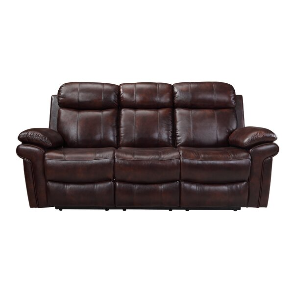 Clearance Asbury Leather Reclining Sofa by Red Barrel Studio by Red Barrel Studio