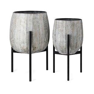 Jeffries 2-Piece Ceramic Pot Planter Set