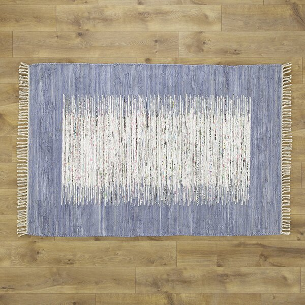Static Hand-woven Blue/Ivory Area Rug by Birch Lane Kids™