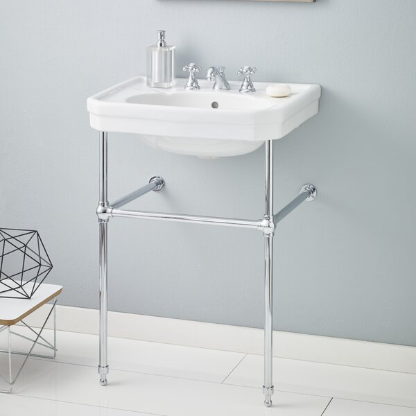 Mayfair Metal 25 Console Bathroom Sink with Overflow by Cheviot Products