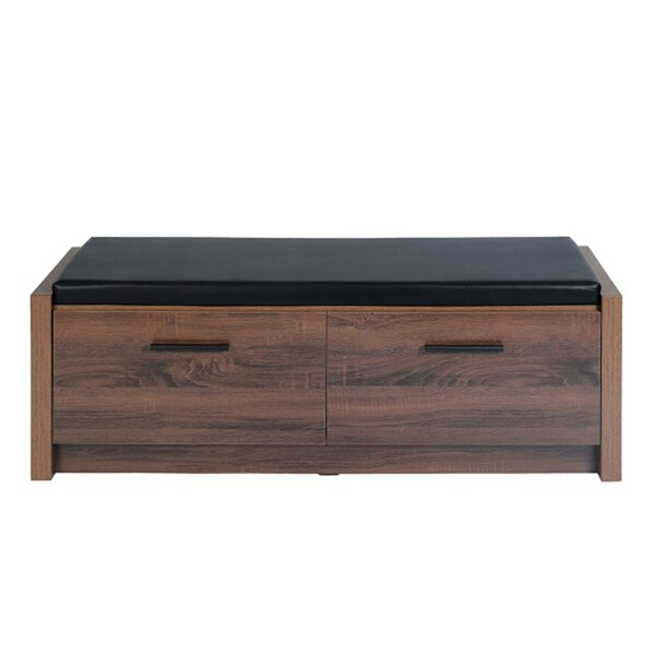 Reinaldo Faux Leather Storage Bench by Foundry Select