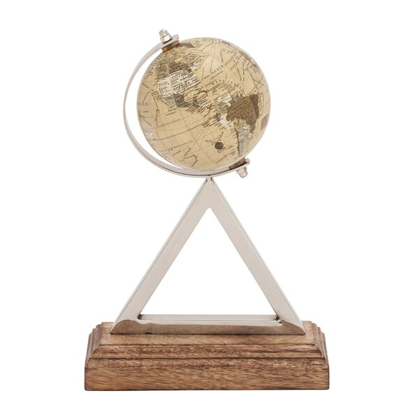 Stainless Steel PVC Wood Globe by Cole & Grey