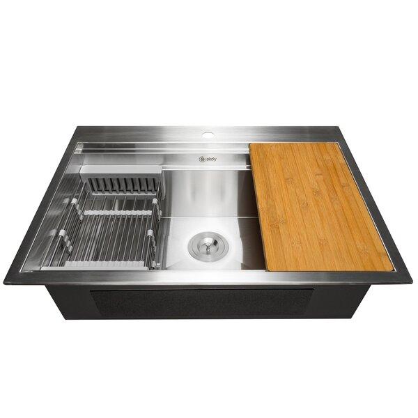 32 x 22 Drop-In Kitchen Sink with Basket Strainer