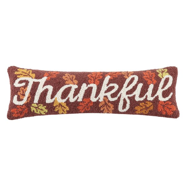 Mcewen Thankful Wool Throw Pillow by The Holiday Aisle
