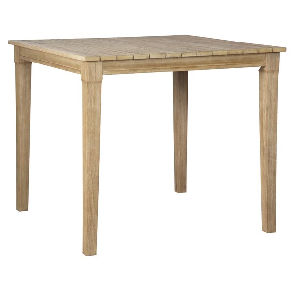 Anguiano Solid Wood Bar Table by Canora Grey