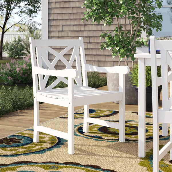 Zephyrine Patio Dining Chair by Beachcrest Home