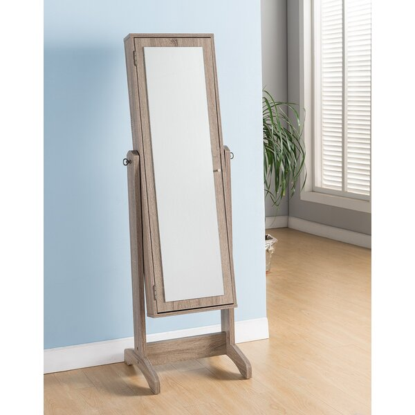 Walkerville Free Standing Jewelry Armoire with Mirror by Highland Dunes Highland Dunes