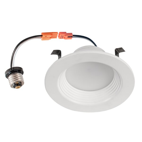 LED Dimmable Light 4 Stepped Baffle Recessed Trim (Set of 4) by Italuce