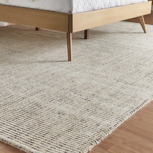 Spartacus Hand-Woven Beige Area Rug by Corrigan St