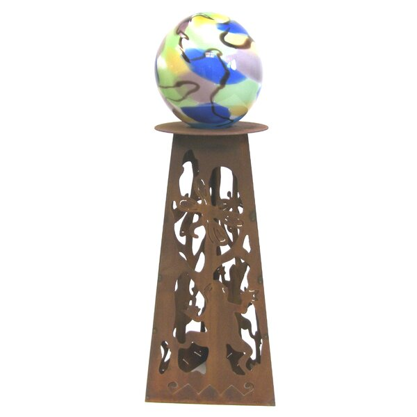 Frog Gazing Ball Pedestal by Z Garden Party