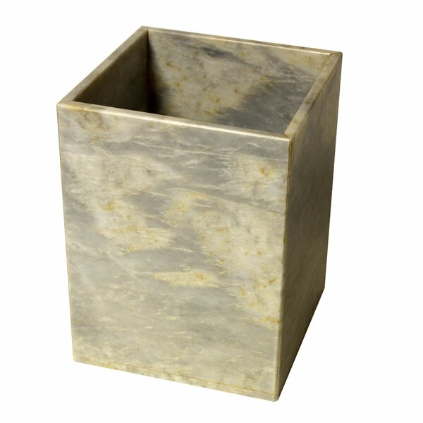 Polished Marble Waste Basket by Rembrandt Home