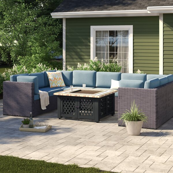 Lawson 6 Piece Rattan Sectional Seating Group with Cushions by Birch Lane™ Heritage