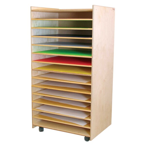 Puzzle and Paper 14 Compartment Cubby with Casters by Wood Designs