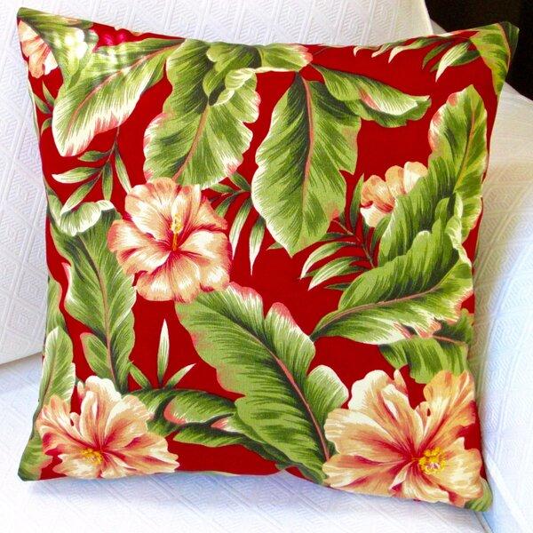 Hawaiian Tropical Island Beach Hibiscus Flower Indoor/Outdoor Pillow Cover (Set of 2) by Artisan Pillows