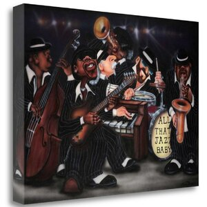 'All That Jazz-Baby' Graphic Art Print on Wrapped Canvas by Tangletown Fine Art
