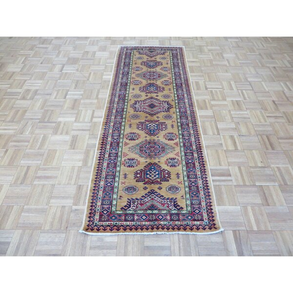One-of-a-Kind Padula Super Hand-Knotted Wool Gold Area Rug by Bloomsbury Market