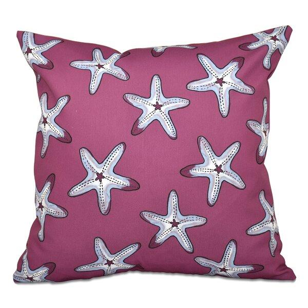 Cedarville Soft Starfish Geometric Print Outdoor Throw Pillow by Highland Dunes
