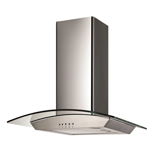 30 Ancona Glass Canopy Series 400 CFM Convertible Wall Mount Range Hood by Ancona