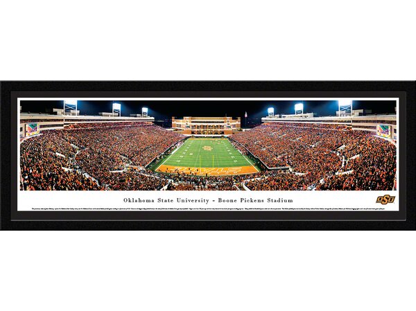 NCAA Oklahoma State University - End Zone by James Blakeway Framed Photographic Print by Blakeway Worldwide Panoramas, Inc