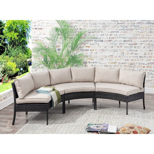 Incroyable Breakwater Bay Petunia Circular Patio Sectional With Cushions U0026 Reviews |  Wayfair