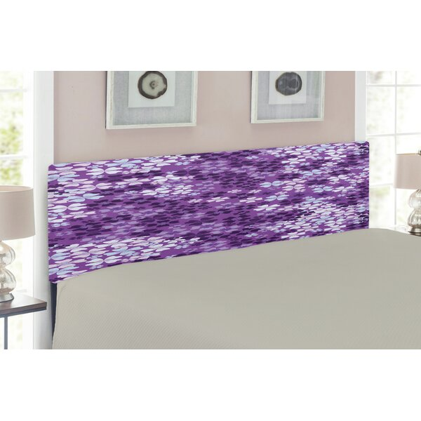 Lilac Flowers Blossoms Upholstered Panel Headboard by East Urban Home East Urban Home