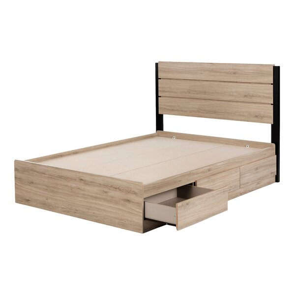 Induzy Industrial Full Platform Configurable Bedroom Set by South Shore