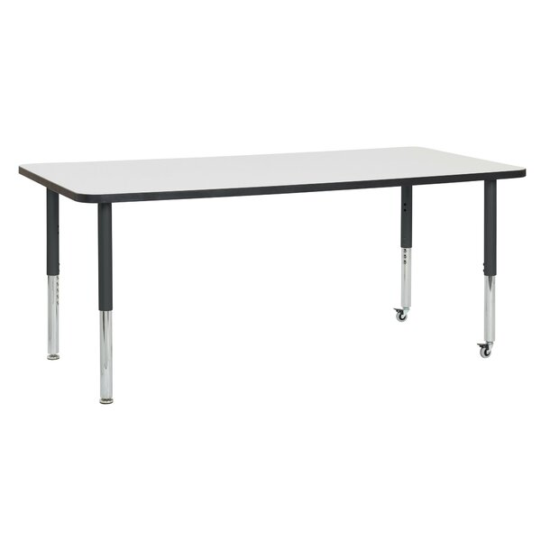 Dry-Erase Adjustable 72 x 36 Rectangular Activity Table by ECR4kids