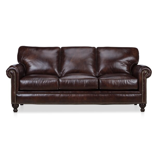 Mielke Leather Sofa By Darby Home Co