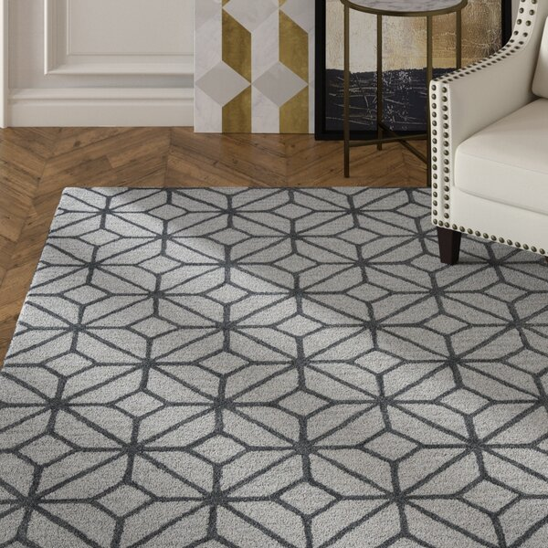 Wright Hand-Tufted Gray Area Rug by Mercer41