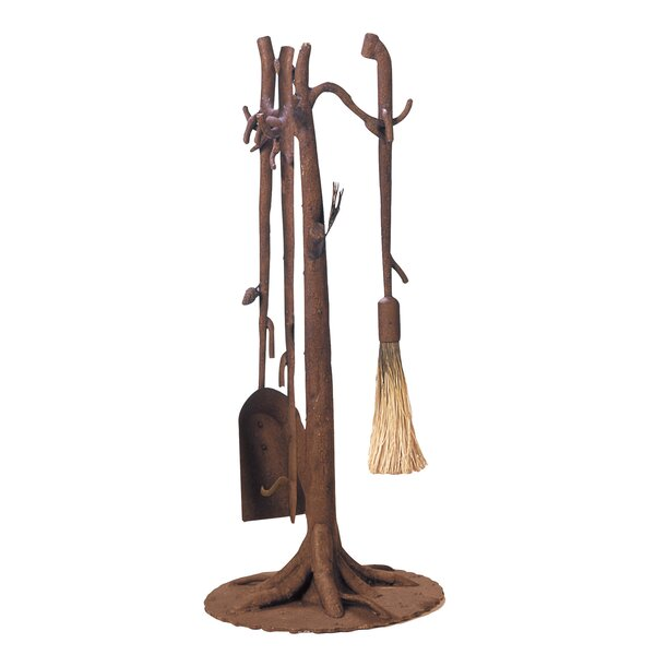 Ponderosa 3 Piece Fireplace Tool Set by Kalco
