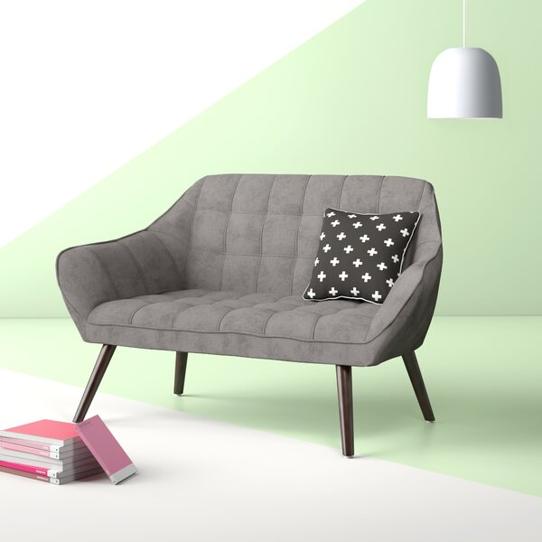 Cecillia Mid-Century Standard Loveseat by Hashtag Home