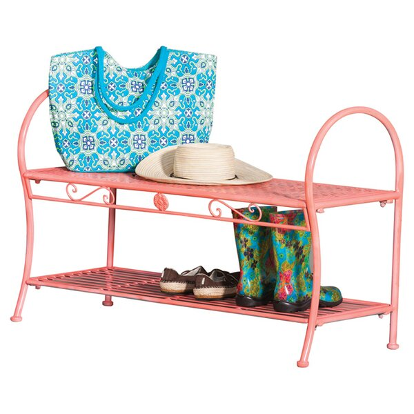 Savannah Metal Garden Bench by Evergreen Flag & Garden