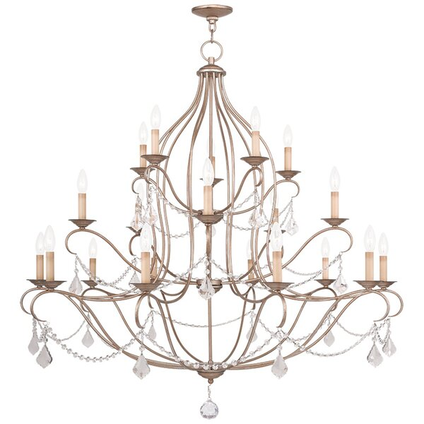 Bayfront 20-Light Candle Style Empire Chandelier with Crystal Accents Accents by Astoria Grand Astoria Grand