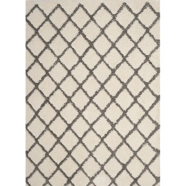 Cream/Gray Area Rug by Wrought Studio