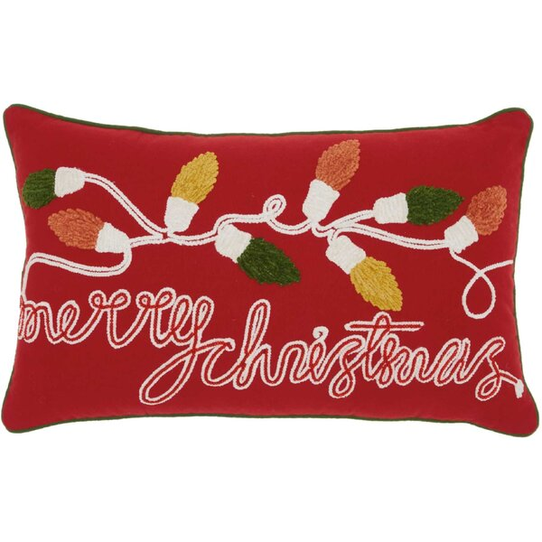 Leboeuf Merry Christmas Cotton Lumbar Pillow by The Holiday Aisle