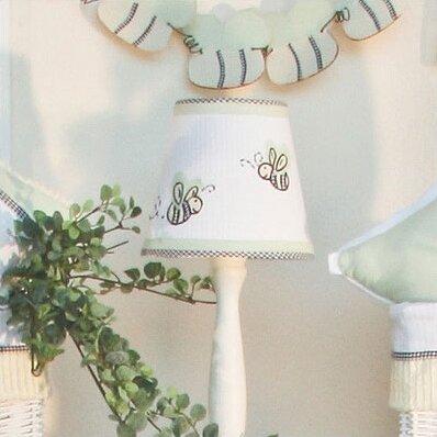 Delucia 7 H Cotton Empire Lamp Shade ( Clip On ) in White