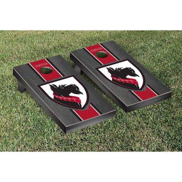 Carnegie Mellon Tartans Stained Stripe Version Bag Toss Game Set by Victory Tailgate