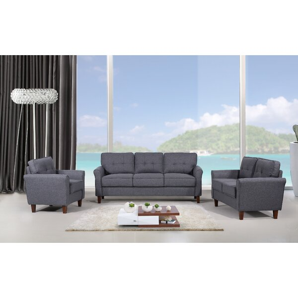 Rosenow Tufted Mid Century 3 Piece Living Room Set by Latitude Run