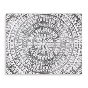 Mandala Gray Graphic Art on Wrapped Canvas by KAVKA DESIGNS