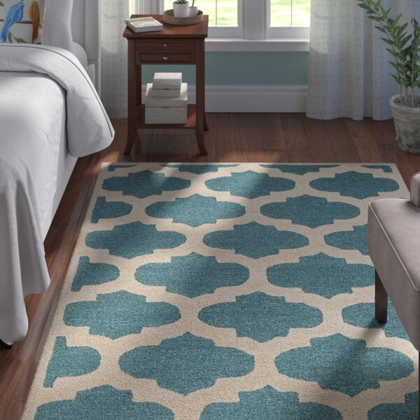 Boise Hand-Tufted Teal Area Rug by Andover Mills