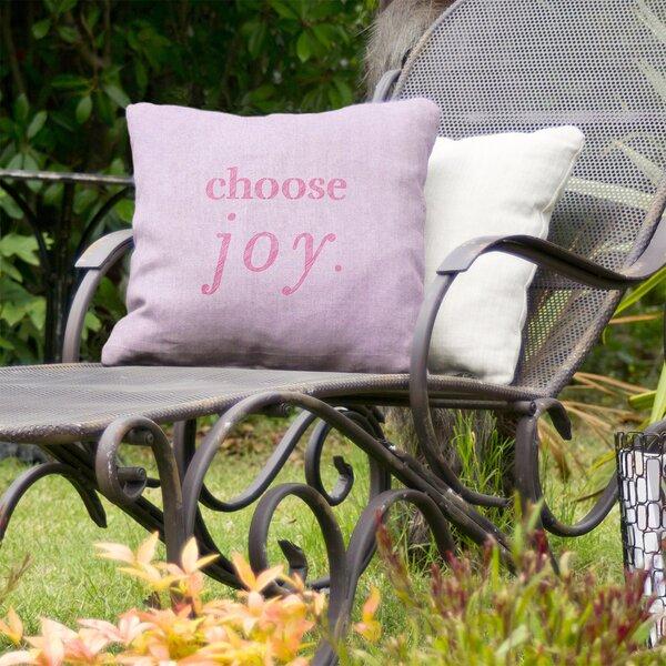 Choose Joy Indoor/Outdoor Throw Pillow