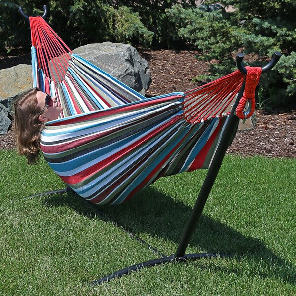 Poirier Jumbo Classic Hammock with Stand by Bay Isle Home Bay Isle Home