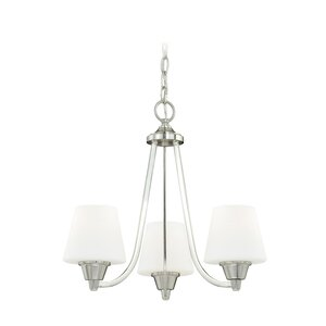 Calais 3-Light Shaded Chandelier