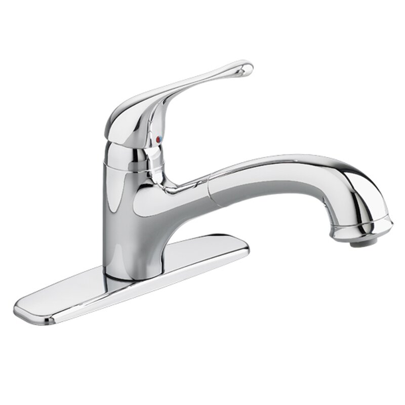 American Standard Colony Soft Single Handle Kitchen Faucet with Pull ...
