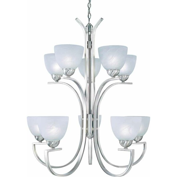Chicago 10 - Light Shaded Tiered Chandelier by Volume Lighting Volume Lighting