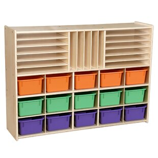 Affordable Price Contender 32 Compartment Cubby with Trays By Wood Designs