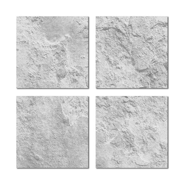 6 x 6 Beveled Glass Field Tile in Light Gray by Upscale Designs by EMA